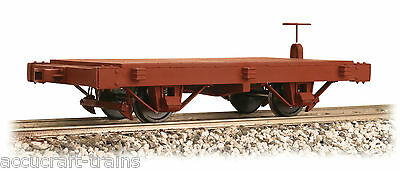 Accucraft / AMS  AM32-110 Short Flat Car, 2 car set, NEW