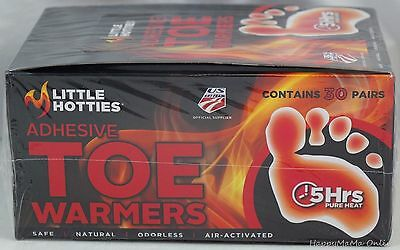 Little Hotties 30 Pairs 60 Toe Warmers Feet Foot Sole Warmer Ski Snow Hand SYD1