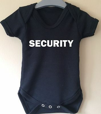Security Baby Body Vest Girl Boy Funny Cool Guard  Present Gift Idea