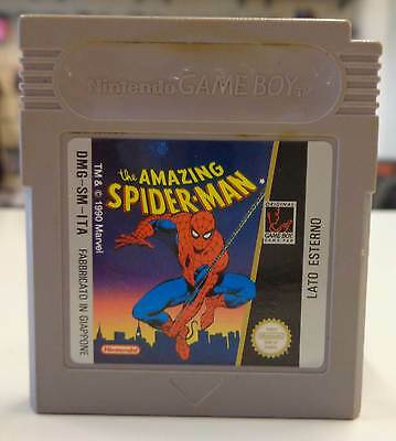 Console Gioco Game Cartuccia Nintendo Game Boy THE AMAZING SPIDER-MAN Uomo Ragno