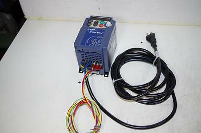 GE Fuji 6KXC111F25X9A1 AF-300  1/4HP VFD 115VAC 1PH / OUT: 200-240VAC 3PH 1/4HP