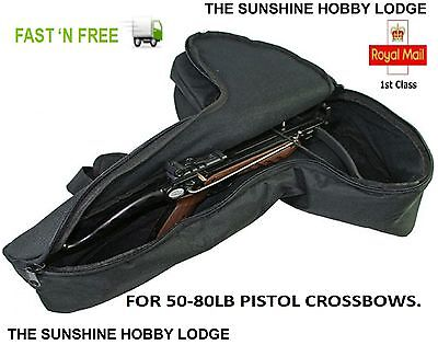 Pistol Crossbow Case Padded Zip Up Pistol Xbow Bag For 50lb & 80lb Pistol Bows