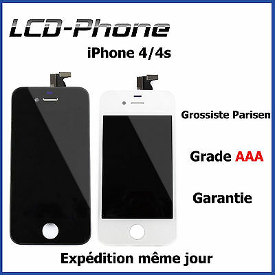 Vitre Tactile Iphone 4 /4S + Ecran Lcd Sur Chassis - Grade Aaa