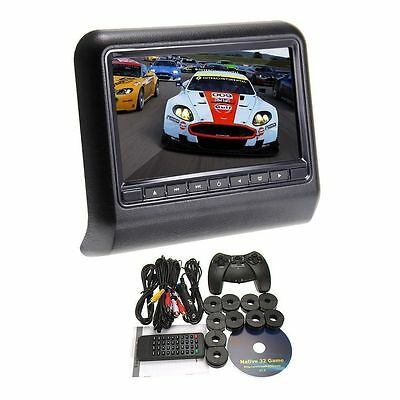 "2016 NEW  9"" LCD Screen Car Pillow Headrest Monitor DVD Player USB/SD Games"