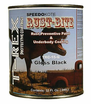 Paint over Rust with Underbody Gloss Black Paint, Quart, TRC-15-Q, RUST-BITE
