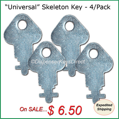 """Skeleton"" Dispenser Key for Paper Towel & Toilet Tissue Dispensers - (4/pk.)"