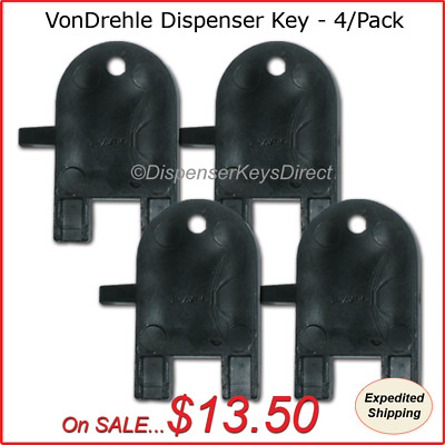 VonDrehle Dispenser Key for Paper Towel & Toilet Tissue Dispensers - (4/pk.)