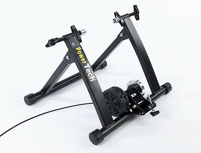 New 2016 Bike Cycle Turbo Trainer Magnetic Resistance 5 Levels Free Riser Block