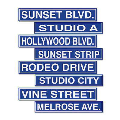 4 pc Totally 80/'s Street Signs Cardboard Cutout Birthday Party Decorations