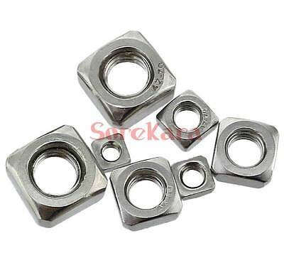 Pack of 100 stainless steel Metric M5 x 8mm x 4mm Square Nuts