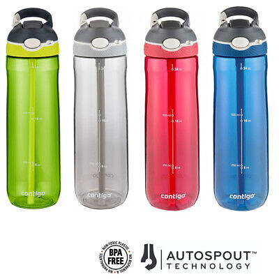 Sports Drink Bottle Contigo Ashland Drinking Water Autospout Lid Mug 24oz 720ml