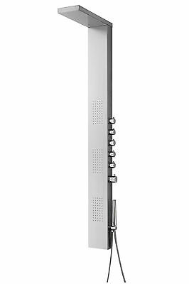 Rainfall & Body Jets Stainless Steel Shower Panel Tower Simultaneous Function
