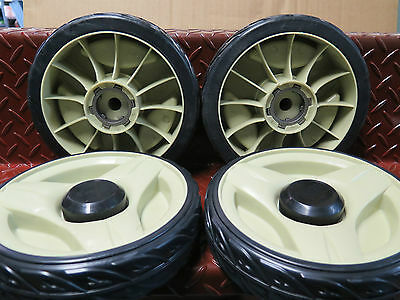 "Honda 21"" lawnmower 4x 8"" wheel set self propelled suit HRU216M2 HRU216K2 w/ hub"