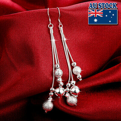 Classic Stunning Sterling Silver Filled Ball Chandelier Cascading Dangle Earring