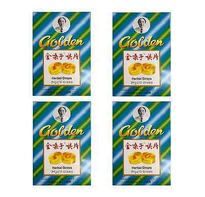 4 x Golden Herbal Drops 12 pk Cough and Sore Throat Relief Tablet (Jin Sang Zi)