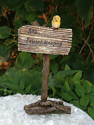 "Miniature Dollhouse FAIRY GARDEN ~ ""Shh...Fairies Sleeping"" Sign ~ NEW"