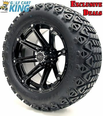 "14"" Madjax ELEMENT Black Wheel and 23x10-14 Golf Cart 4-PLY Tire Combo"