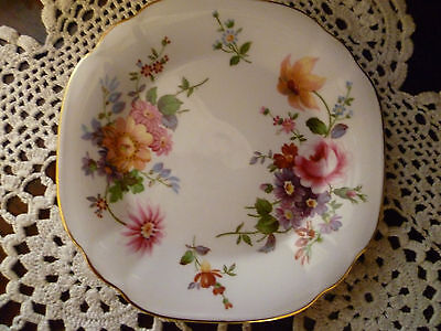 Beautiful Royal Crown Derby Posies Scone Dish / Plate  Made In England