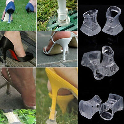2/5pcs Clear High Heel Stopper for Grass Outdoor Wedding Banquet Protector Cover