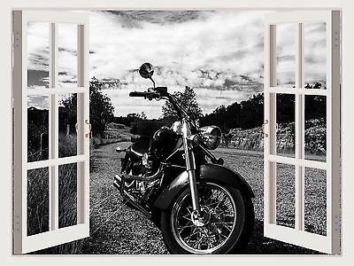 Harley wall Decals bike Murals motorbike wall sticker Motorcycle 3d window w156 : motorcycle wall decals - www.pureclipart.com