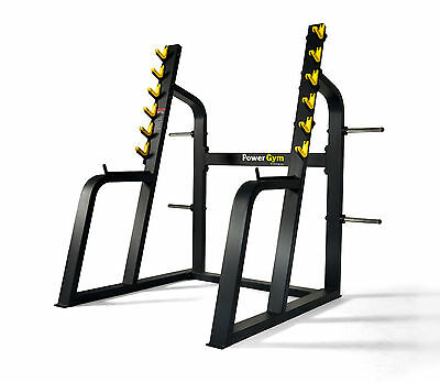 NEW PowerGym Fitness Commercial Olympic Squat Rack Cage Heavy Duty Power Gym
