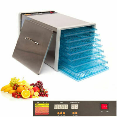 10 Tray Food Fruit Dehydrator With Door and Timer Dryer