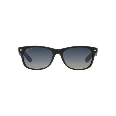 Ray Ban New Wayfarer Sunglasses RB2132 601S78 55mm Polarized Blue Grey Gradient