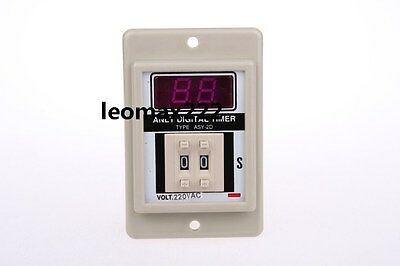 Ebay White AC 220V Power on Delay Timer Time Relay 1-99 Second 8 Pins ASY-2D