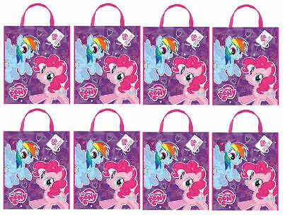 """8 Ct. My Little Pony Party Tote Bag 13"""" x 11"""""""