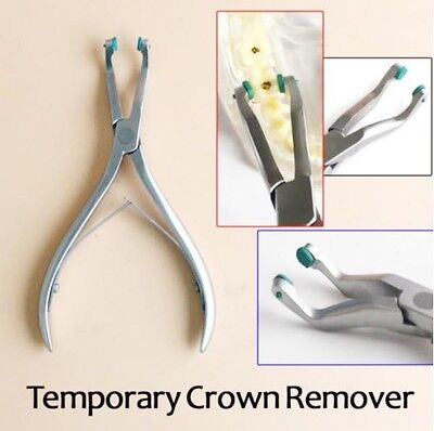 Dental Temporary Crown Remover Forceps with 2 Soft Pads High Quality Fus