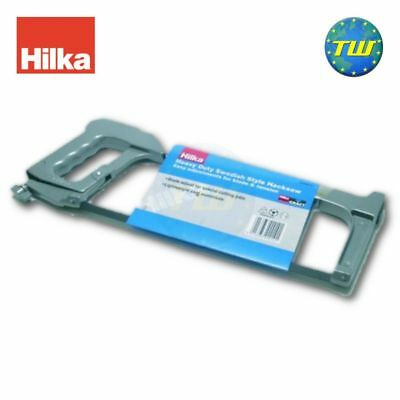 "Hilka Heavy Duty 12"" 300mm Adjustable Hacksaw for Wood & Metal Cutting 43900010"