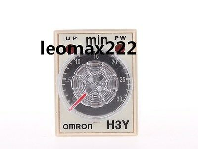 1pcs OMRON time timer relay 8pin H3Y-2 H3Y AC220V 5A 1min-30min 30min Hot