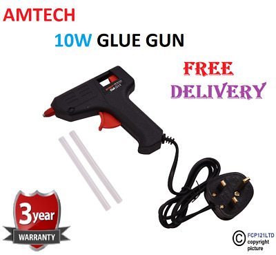 Hot Melt Mini Glue Gun 2 Sticks 10W 240V Arts Crafts DIY Adhesive Electric