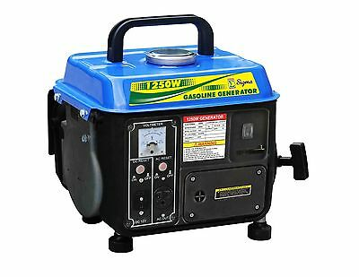 NEW 1250 Watt Portable Gasoline Generator Power 2 Stroke RV Camping EPA/CARB
