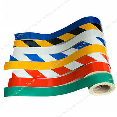 9 Color Car Reflective Safety Warning Conspicuity Tape Film Sticker Multicolor