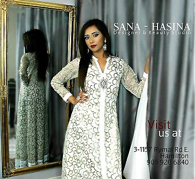 Pakistani designer gown shalwar kameez anarkali salwar dress saree indian