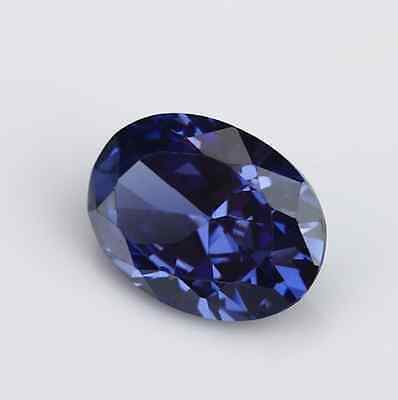 Cubic Zirconia Oval Tanzanite AAA Rated CZ Loose Stones (5x3mm - 25x20mm)