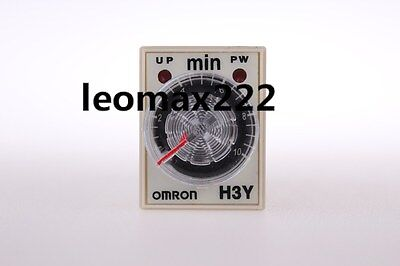 H3Y-2 AC 220V DPDT 0-10 Minutes 10M 8 Pins Power on Time Delay Relay New