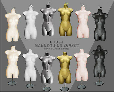 Quality Female Mannequin Torso Body Form Display Bust With Hanging/stand Options