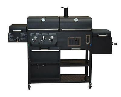 kombigrill gasgrill und holzkohlegrill cherokee von el fuego grill smoker bbq eur 475 00. Black Bedroom Furniture Sets. Home Design Ideas
