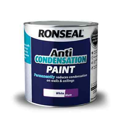 Ronseal Anti Condensation Paint White Matt 750ml / 2.5L