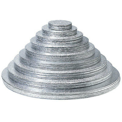 Silver 18 Inch Round Cakeboards Set of 6 Wedding Cake
