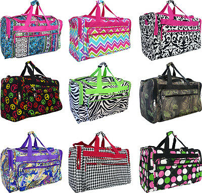 "Women's 19"" Fashion Print Lightweight Duffel Bag /Dance /Gym /Shoulder carry-on"