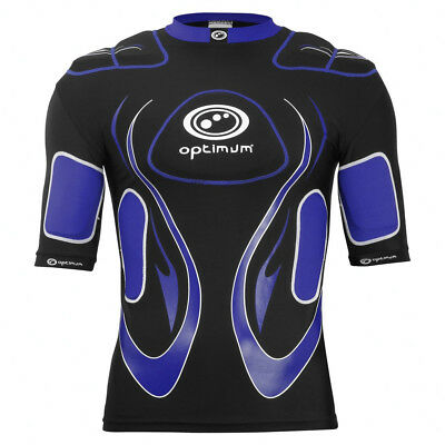Optimum Inferno Rugby Body Protection Shoulder Pads Black/Blue