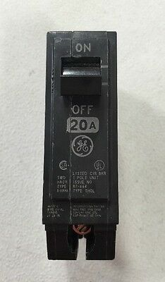 General Electric GE THQL1120 Circuit Breaker 1 Pole 20 Amp 120/240VAC Plug-In