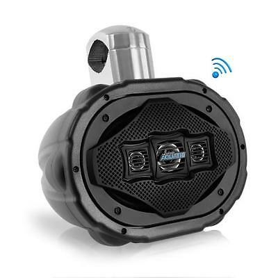 "Lanzar AQAWBS69BK Aquatic 6"" x 9"" Bluetooth Marine Wakeboard Speaker, 1200W"