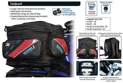 Motorcycle Motorbike Sports OXFORD 1st TIME TAIL BAG Ruck Sack 36L OL436