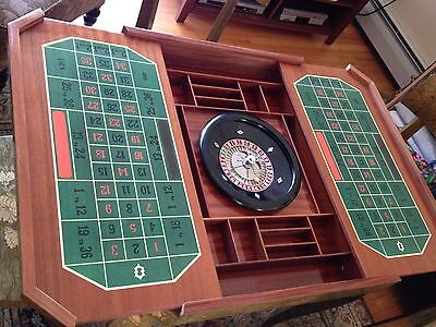 Italian Marquetry Inlaid Wood Gambling/Gaming Table 4 Matching Chairs BEAUTIFUL