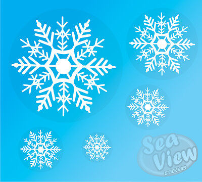 96 Snowflake Window Stickers Reusable Christmas Decorations Static Cling