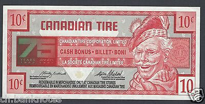 Canadian Tire Money 10 cent Serial 7530668735 1996